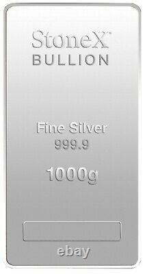 1 KG Silver Coin Bullion Bar 999.9 Fine Silver Bar 1Kilo Gift Box + Certificate