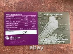 1 KILO Silver Proof 2015-P Australia Kookaburra, PF70UC, NGC $30, OGP/COA, 25th Annv