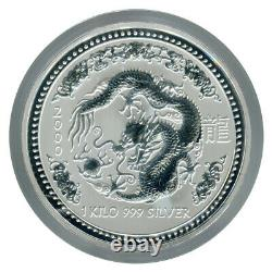 1 KILO kg 2000 Perth Lunar DRAGON Silver Coin
