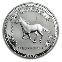 1 KILO kg 2002 Perth Lunar HORSE Silver Coin