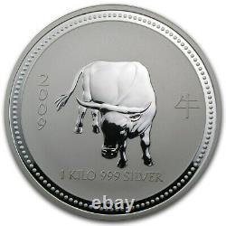 1 KILO kg 2009 Perth Lunar OX Silver Coin