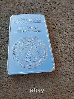1 Kilo Silver Bar APMEX Struck Bar. 999% Fine