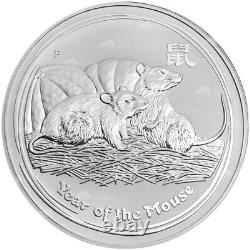 1 kg kilo 2008 Lunar Year of the Mouse Silver Coin