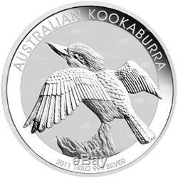 1 kg kilo 2011 Australian Kookaburra Silver Coin
