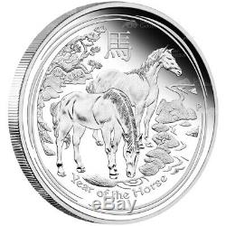 1 kg kilo 2014 Lunar Year of the Horse Silver Proof Coin