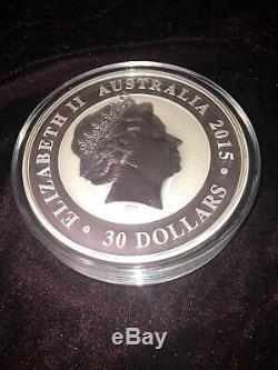 1 kilo Australian Kookaburra 999 Pure silver coin