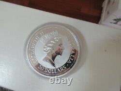 1992,1 Kilo, Silver, Australian Kookaburra. 999 Silver Coin