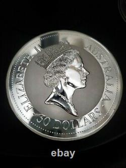 1992 1 kilo Silver Australian Kookaburra. 999 Silver Coin Bullion
