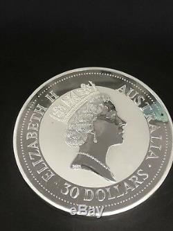 1992 $30 AUSTRALIA 1 KILO kg Silver KOOKABURRA (CAPSULE)GUARANTEED AUTHENTIC