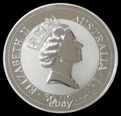 1992 Australia Silver 32.15 Oz 1 Kilo Kookaburra Coin In Capsule