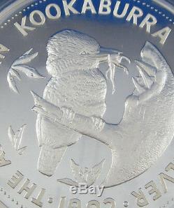 1992 Silver Kookaburra KILO PROOF. Perth Mint Australia large coin series