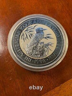 1992 one KILO silver AUSTRALIA Kookaburra 32.15 ounces. 999 in CAPSULE