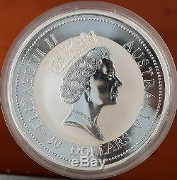 1995 P Australia 30 Dollars KM# 271 Fine 999 Silver 1 Kilo Kookaburra Coin BU