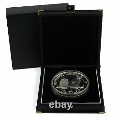 1996 $100 Gambia Endangered Wildlife Lion Family 1 Kilo. 999 Silver Coin