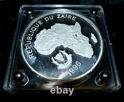 1996 Zaire 1 Kilo Silver Wildlife Of Africa Gorilla 10000 Zaires Trusted