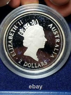 1997 Kookaburra PROOF Kilo 4 Coin set 45.15 troy ounces Box and COA