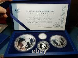 1998 Kookaburra PROOF Kilo 4 Coin set 45.15 troy ounces Box and COA
