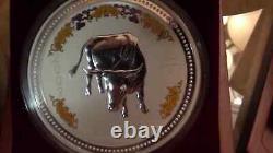 1999-2010 Australia Lunar I 12 coins 1kilo Gemstone 999 Silver $30 RARE