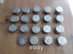 1KG KILO of Pre 1920 British Silver Shillings 0.925 Sterling 185 Coins