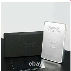 1KG Silver Coin Bullion Bar 999.9 Fine Silver Bar 1 Kilo Gift Box & Certificate