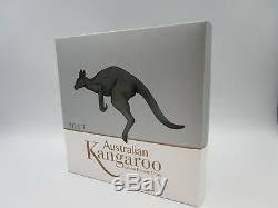 1kg Känguru Silber 2017 Australien $ 30 1 Kilo Känguru Silbermünze Proof 2017