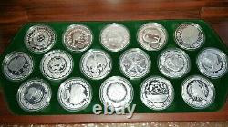 2000 16 x 1oz Sydney Olympic Silver Coin Set The Perth Mint / 1/2 kilo coins