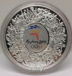 2000 Australia Sydney Olympic Games $30 1 Kilo Silver Proof Colorized