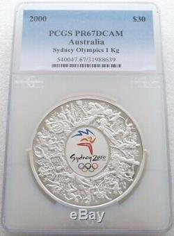 2000 Australia Sydney Olympic Games $30 Dollar Silver Proof Kilo Coin PCGS PR67