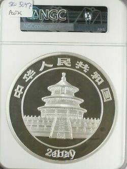 2000 China 1 Kilo Silver Panda Proof 300 Yuan, Low Mintage Of 2000