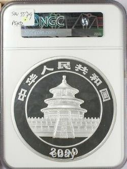 2000 China Proof 300 Yuan Kilo Silver Panda NGC PR69 Ultra Cameo Finest Graded