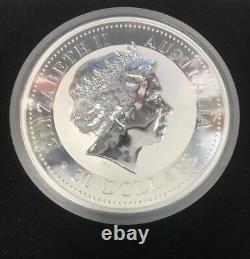 2001 1kilo Australian lunar Chinese zodiac. 999 silver coin year of the snake