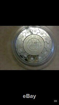 2001 liberia kuanyin 12 lunar puzzle Kilo silver coindont ask any discount