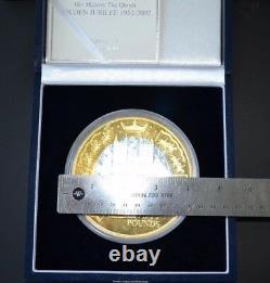 2002 Alderney Golden Jubilee £50 Fifty Pound Silver Proof Kilo Coin RARE