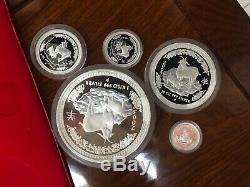 2003 Australia series I Goat lunar proof Kilo 10oz 2oz 1oz 1/2 silver coin set