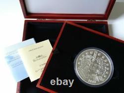 2003 FRANCE THE GODDESS EUROPA Huge 1 KILO Kg SILVER 50 EURO COIN