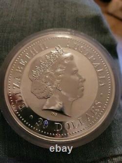 2003 KG SILVER AUSTRALIA 32.15oz KILO $30 LUNAR YEAR OF THE GOAT COIN IN CAPSULE
