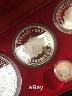 2004 Australia series I monkey lunar proof Kilo 10oz 2oz 1oz 1/2 silver coin set