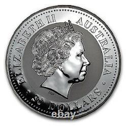 2005 Australia 1 kilo Silver Year of the Rooster BU (Colorized) SKU#58504