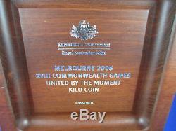 2006 Melbourne Games $30 One KILO fine silver coin in superb Jarrah box. BUY IT