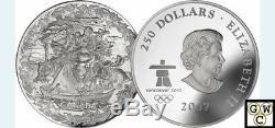 2007 1-Kilo Silver Coin Early Canada. 9999 Fine (12070)