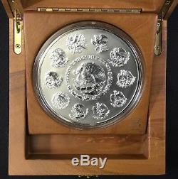 2007 Mexico Libertad Pure Kilo Silver Coin in Case with COA
