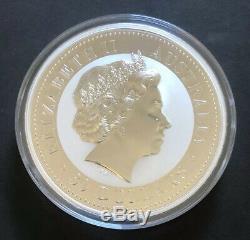 2008 1 Kilo (32.15oz) Kookaburra. 999 Fine Silver Coin Beautiful In Capsule