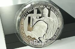 2009 Pope John Paul II 1 Kilo. 999 Fine Silver Coin with Coa and Box
