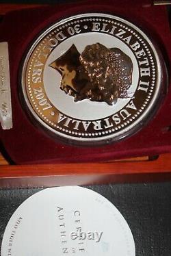 2010/07 Australia Lunar I TIGER 1kilo DIAMOND 999 Silver collector coin $30RARE