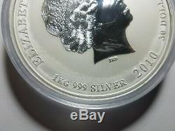 2010 1 Kilo Silver Year of the Tiger Coin. 999 1 Kg, 32 Oz, Perth Mint Lunar