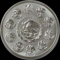 2010 MO SILVER MEXICO 32.15 oz KILO $100 AZTEC CALENDAR 999 FINE SILVER COIN