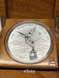 2010 Mexico Libertad 1 kilo. 999 Silver Coin WithCOA Original Box Proof Like
