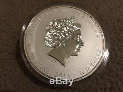 2011 1 Kilo Silver Lunar Year of The Rabbit BU Australian Perth Mint in Capsule