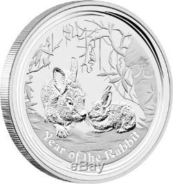 2011 Australian Lunar Rabbit 1 Kilo Silver Coin Series II