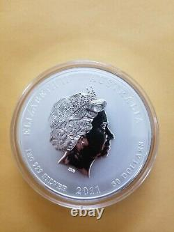2011 Australian Year of the Rabbit 1 Kilo Silver $30 Coin BU